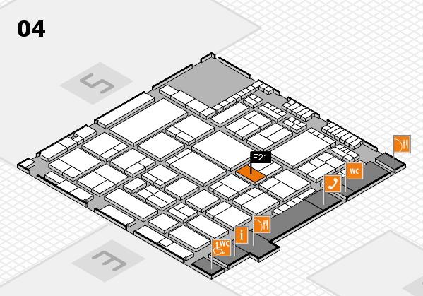 A+A 2017 hall map (Hall 4): stand E21
