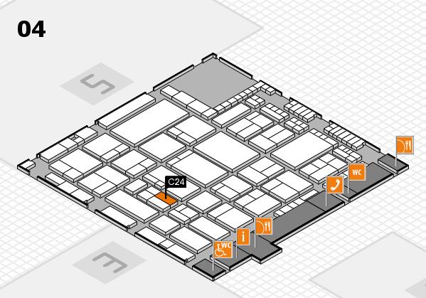 A+A 2017 hall map (Hall 4): stand C24