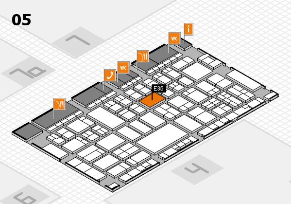 A+A 2017 hall map (Hall 5): stand E35