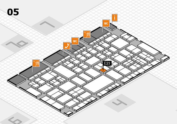 A+A 2017 hall map (Hall 5): stand E23