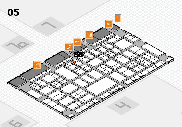 A+A 2017 hall map (Hall 5): stand D45