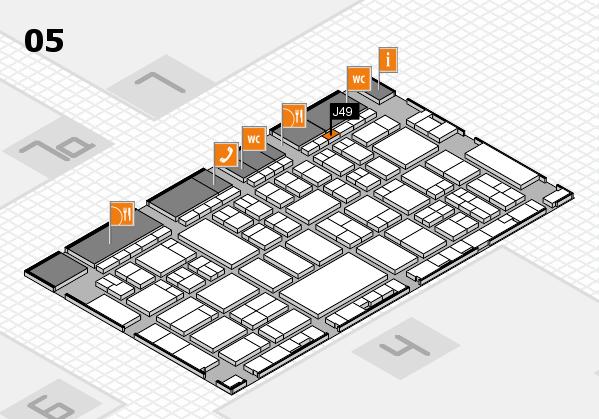 A+A 2017 hall map (Hall 5): stand J49