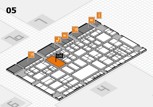 A+A 2017 hall map (Hall 5): stand C35