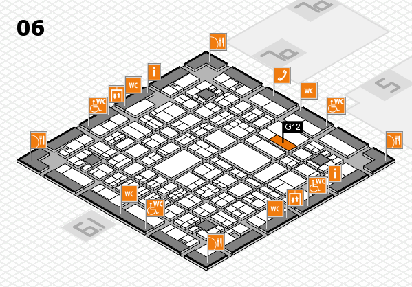 A+A 2017 hall map (Hall 6): stand G12