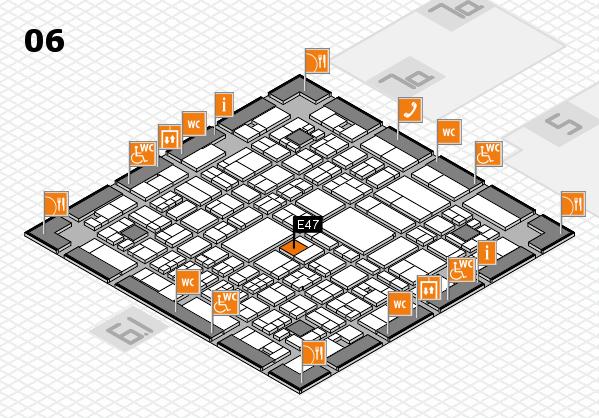 A+A 2017 hall map (Hall 6): stand E47