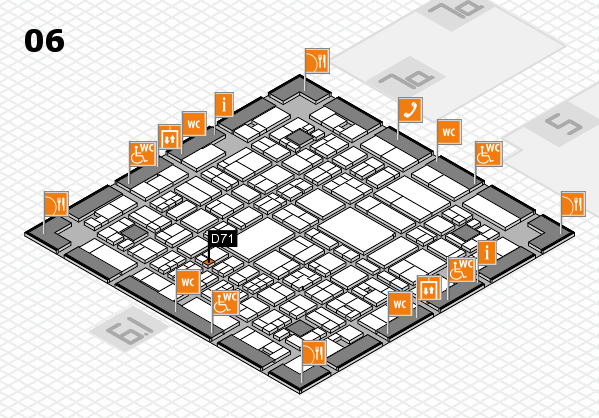 A+A 2017 hall map (Hall 6): stand D71
