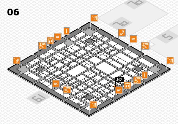 A+A 2017 hall map (Hall 6): stand J42