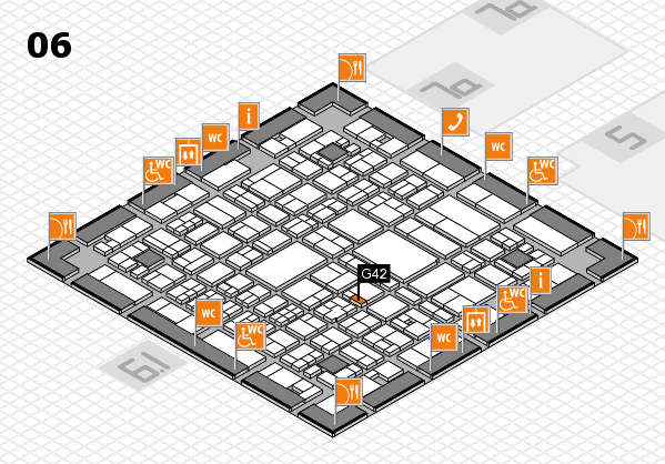A+A 2017 hall map (Hall 6): stand G42