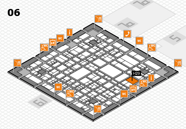 A+A 2017 hall map (Hall 6): stand H29