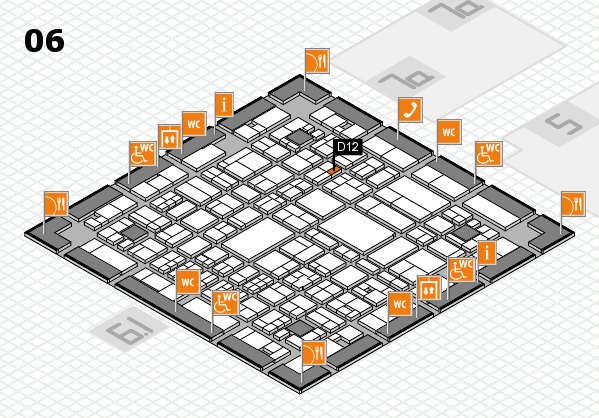 A+A 2017 hall map (Hall 6): stand D12