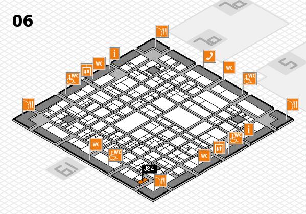 A+A 2017 hall map (Hall 6): stand J84