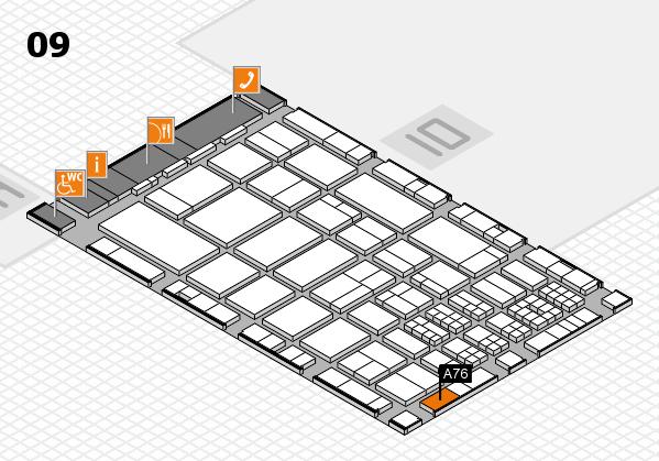 A+A 2017 hall map (Hall 9): stand A76