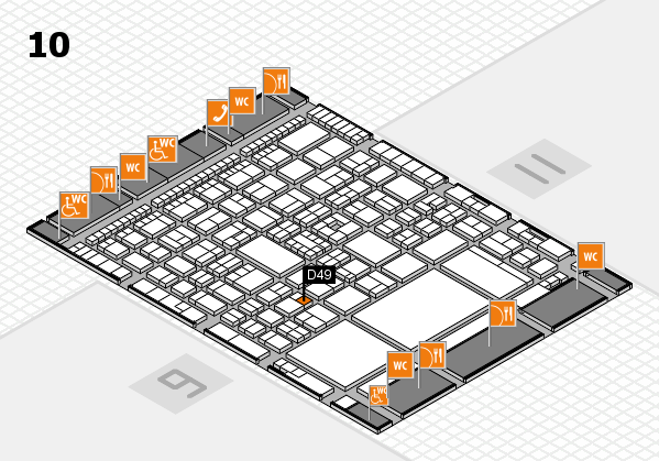 A+A 2017 hall map (Hall 10): stand D49