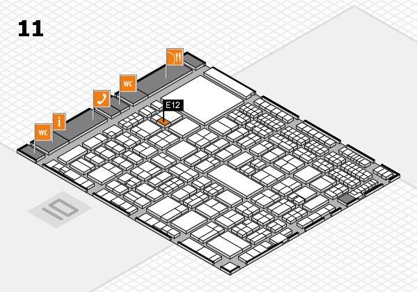 A+A 2017 hall map (Hall 11): stand E12