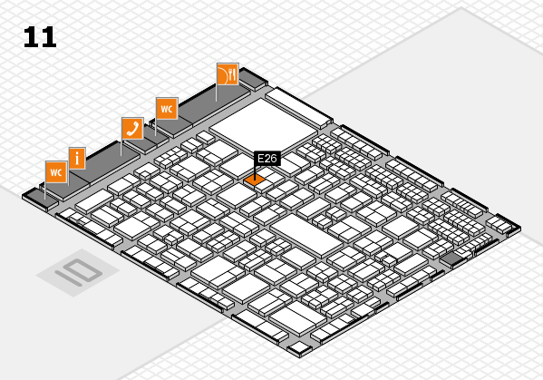 A+A 2017 hall map (Hall 11): stand E26