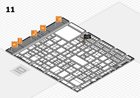 A+A 2017 hall map (Hall 11): stand H32