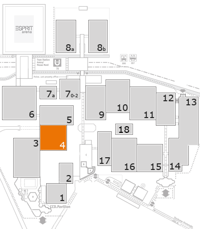 A+A 2017 fairground map: Hall 4