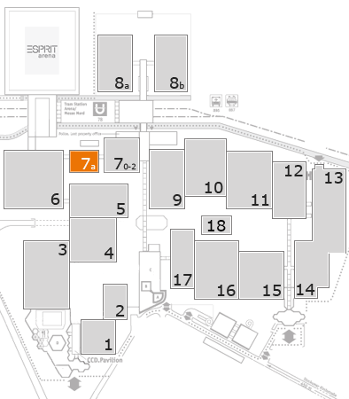 A+A 2017 fairground map: Hall 7a