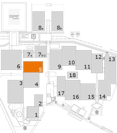 A+A 2017 Geländeplan: Halle 5
