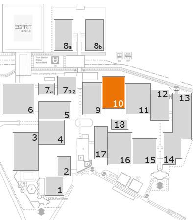 A+A 2017 Geländeplan: Halle 10