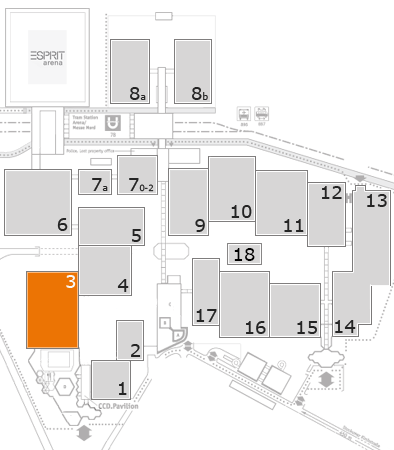 A+A 2017 fairground map: Hall 3