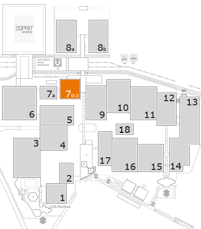A+A 2017 fairground map: Hall 7
