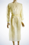 Med-Comfort non-woven visitor gown with PE coating for protection