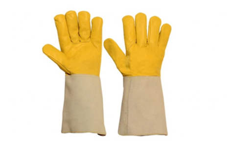 'Yellow Cow Grain Welding Glove'