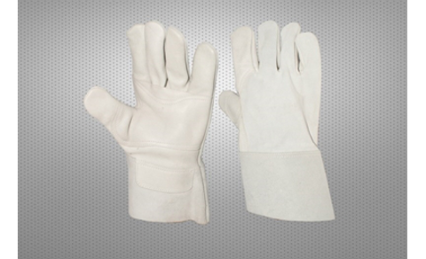 'White Cow Grain Welding Glove 7cm cuff with reinforcement'