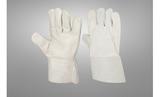 'White Cow Grain Welding Glove 7cm cuff with reinforcement'