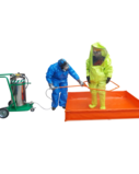 Portable Decontamination Unit and Waste Water Pool