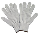 Uncoated string knit gloves