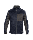 convex midlayer jacket midnight blue anthracite grey front