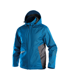 hyper wind and waterproof work jacket azure blue anthracite grey front