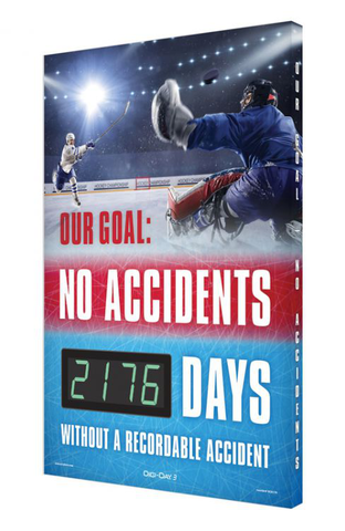 Digi-Day® 3 Electronic Safety Scoreboards: Our Goal - No Accidents _ Days Without A Recordable Injury