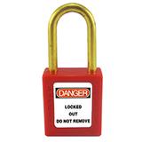 brass shackle padlock