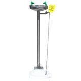 Pedestal mounted stand eyewash station