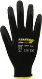 Smartphone finely knitted gloves with microfoam coating