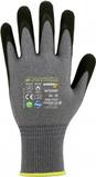 Feinstrickhandschuh mit Premium-Mikroschaum-Beschichtung - Farbe: grau/schwarz