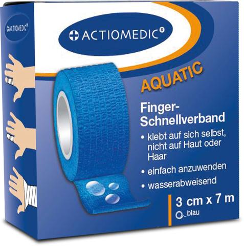 ACTIOMEDIC® Schnellverband, blau, 3cm x 7m