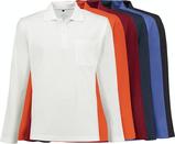 Farbpalette Poloshirts langarm
