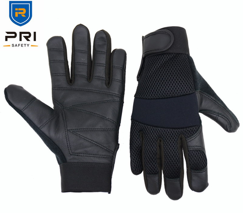 1269 Black Goatskin Police Army Military Work Cut resistance leather Safety gloves