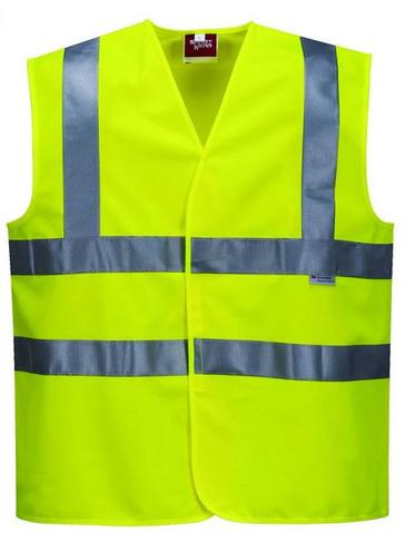 100% polyester HI-VIS mesh Road safety reflective running vest