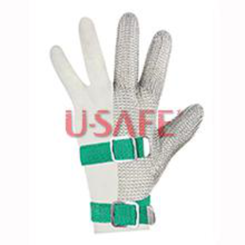 301-Three Finger Wrist Glove with Textile Strap