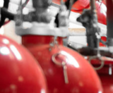 Manufacture of fire extinguishers with clean agent