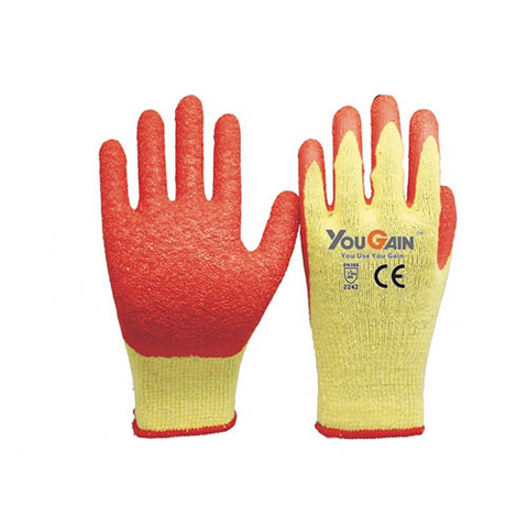 10 gauge grep polycotton liner bule latex palm coating crink