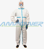 MICROPOROUS COVERALL WITH TAPED SEAM