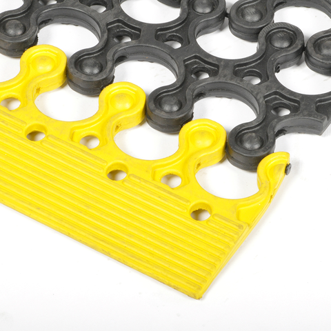 15432 Yellow recycled natural rubber end modul, Productgroup: Building & Logistical equipment