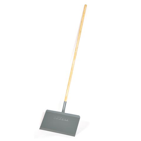 12267 Snow shovel with stick, colour grey, Productgroup: Building & Logistical equipment