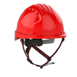 EVO®5 DualSwitch™ Industrial Climbing Helmet - Red